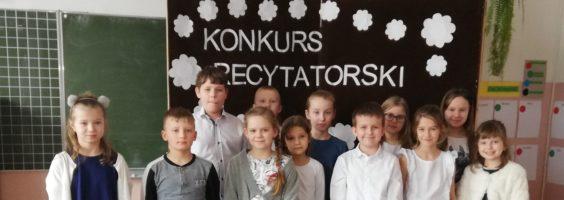 Szkolny Konkurs Recytatorski dla uczniów klas I-III