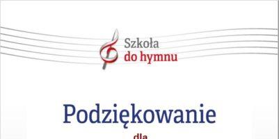 """""""Szkoła do hymnu""""."""